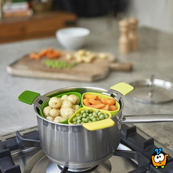 Cooking steamer - Set od 3 umetka za kuvanje na pari