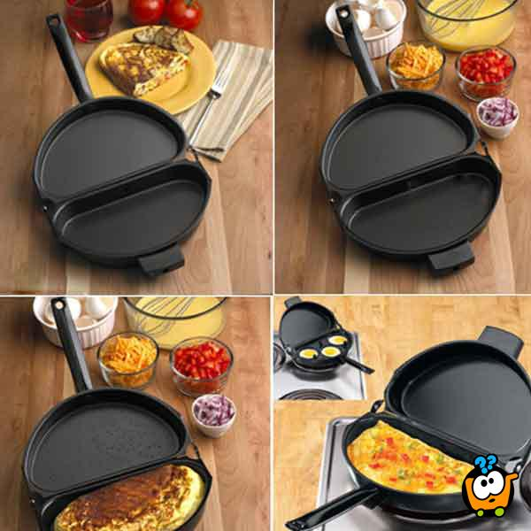 Dvostruki sklopivi tiganj za pripremu omleta