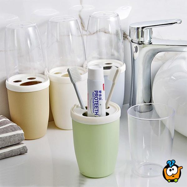 2u1 Čaša i držac četkice i paste za zube