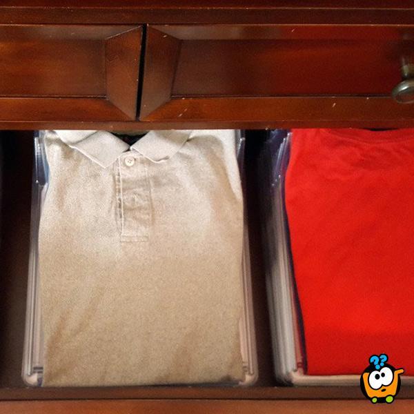 Organizer garderobe - podmetači za uredno slaganje odeće po slojevima