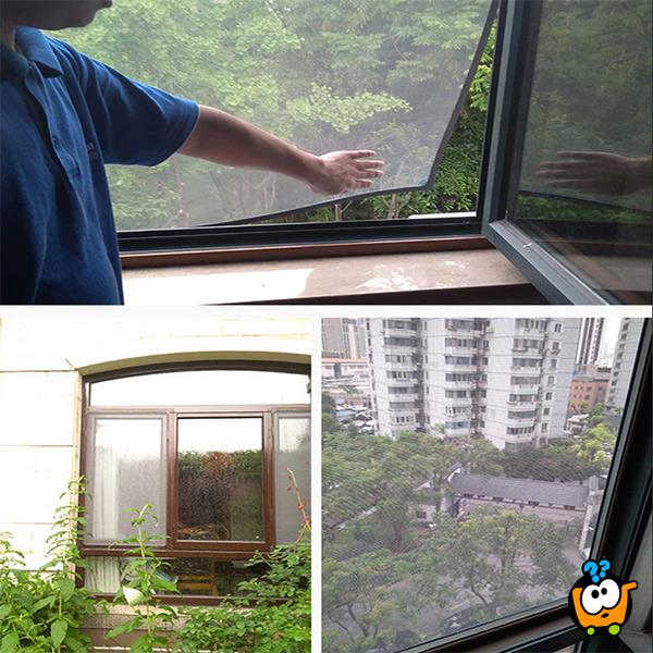 Magična mreža za prozore protiv komaraca