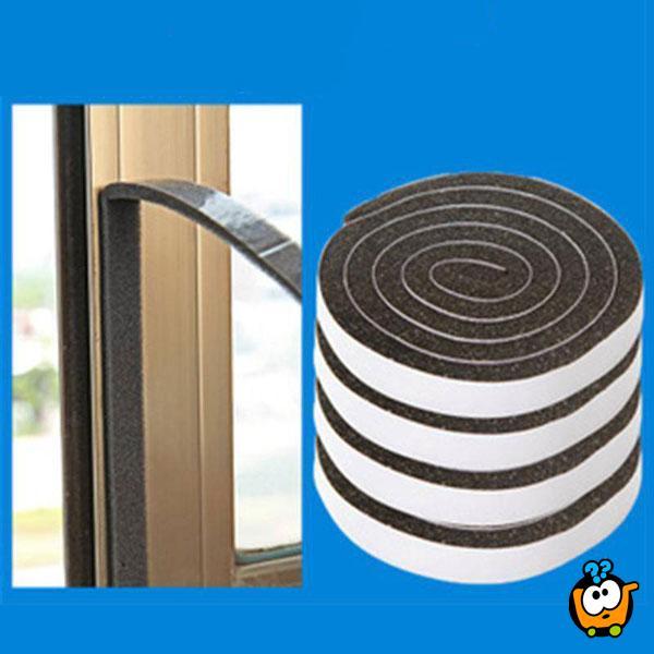 Samolepljiva dihtung sunđerasta traka za prozore i vrata