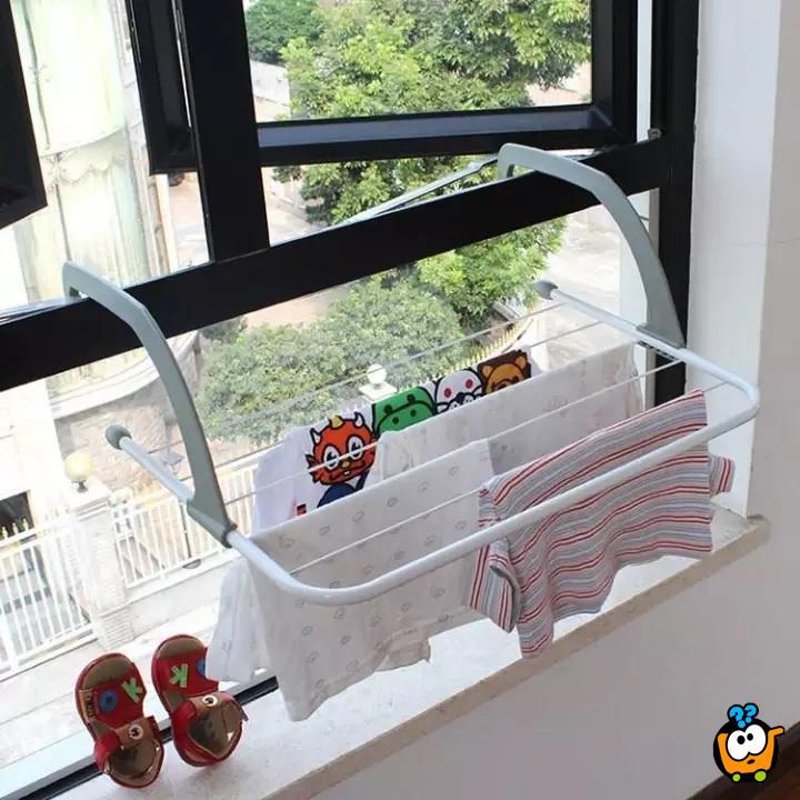 Sklopiva resetka za sušenje veša na prozoru, terasi ili radijatoru