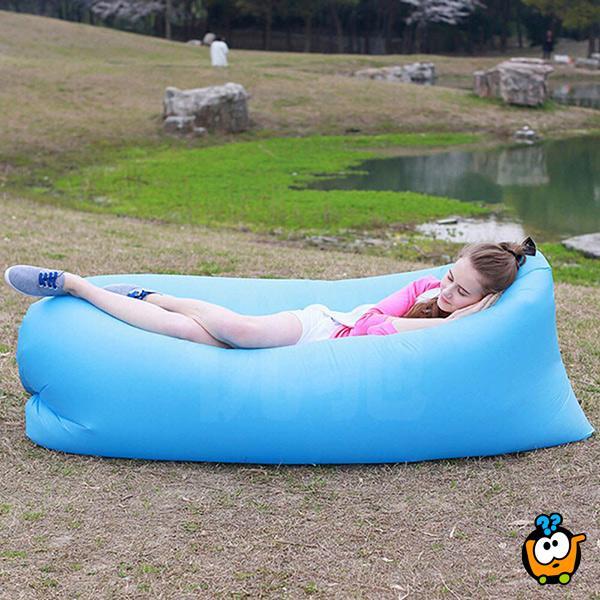 Lazy Sofa - Veliki lazy bag na brzo naduvavanje pokretom
