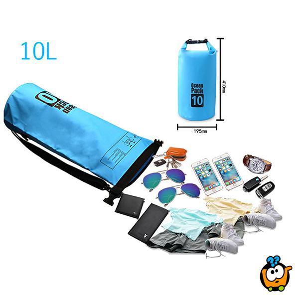 Ocean Pack - Praktična vodootporna rafting torba 10l