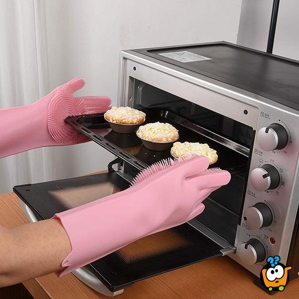 Višenamenske silikonske rukavice za pranje sudova, hrane i za druge kućne poslove