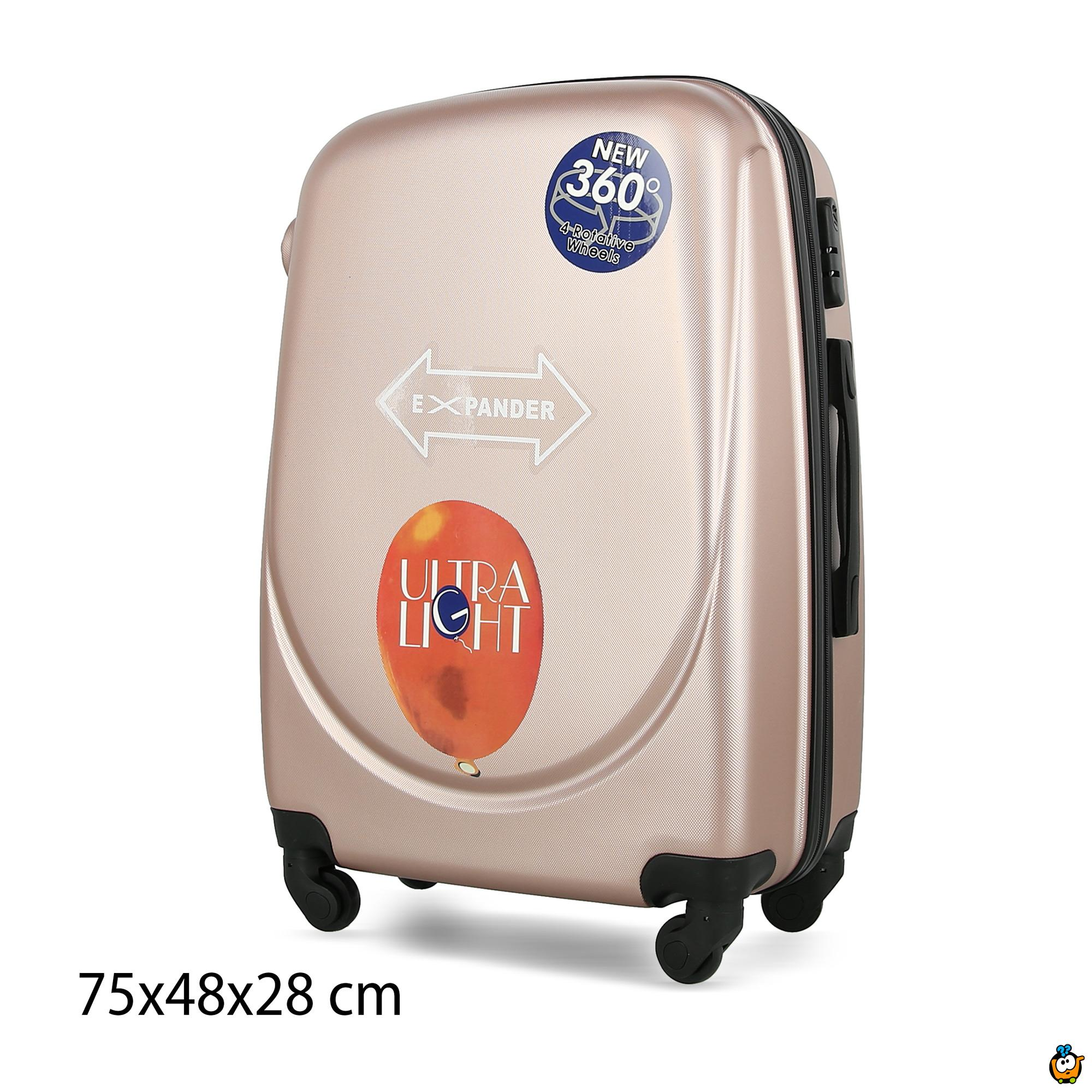 Putni kofer Expandable sa točkićima 360° -  PINK XL