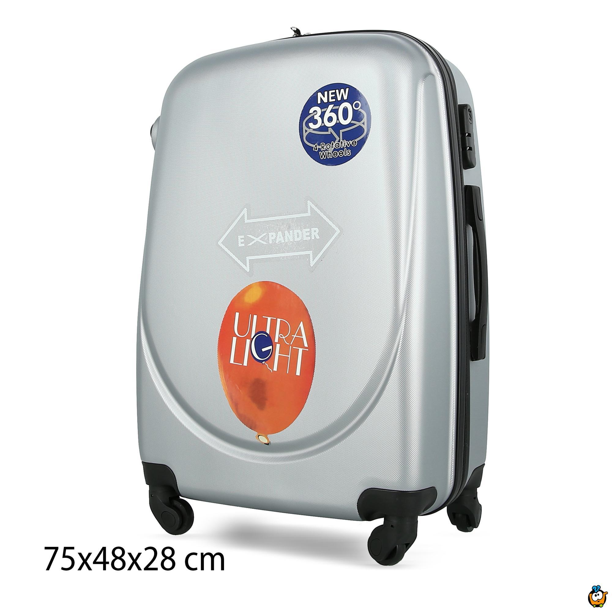 Putni kofer Expandable sa točkićima 360° -  SIVI XL