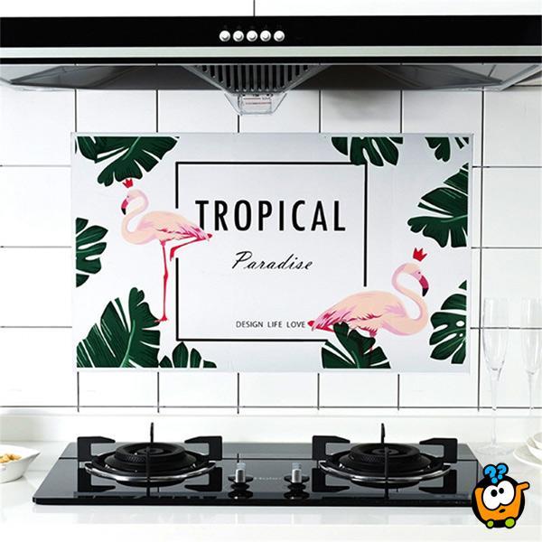 Zaštitni i ukrasni zidni stiker za kuhinju
