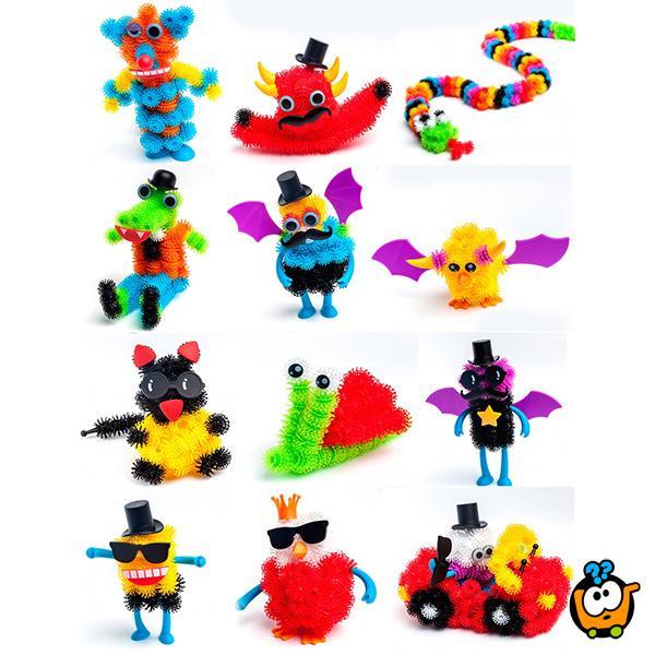 Bunchems šareni čičak - Kreativni set od 60 delova