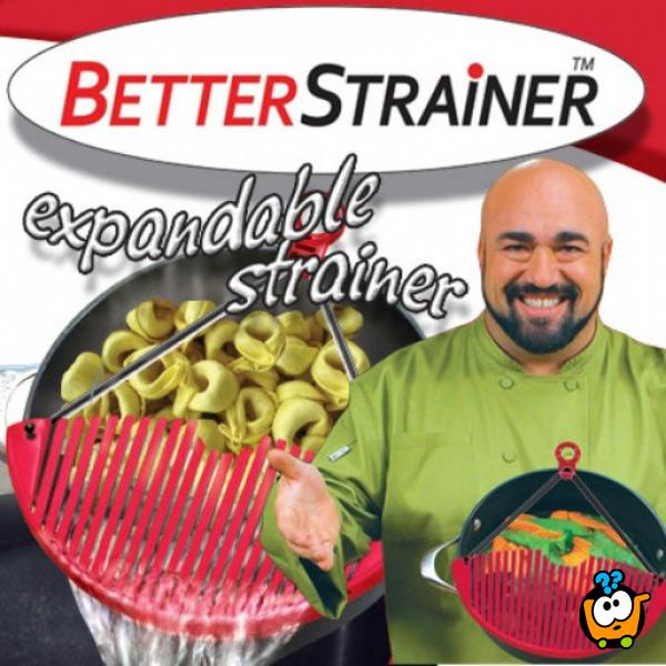 Better Stainer - Prilagodljivi poklopac oceđivač