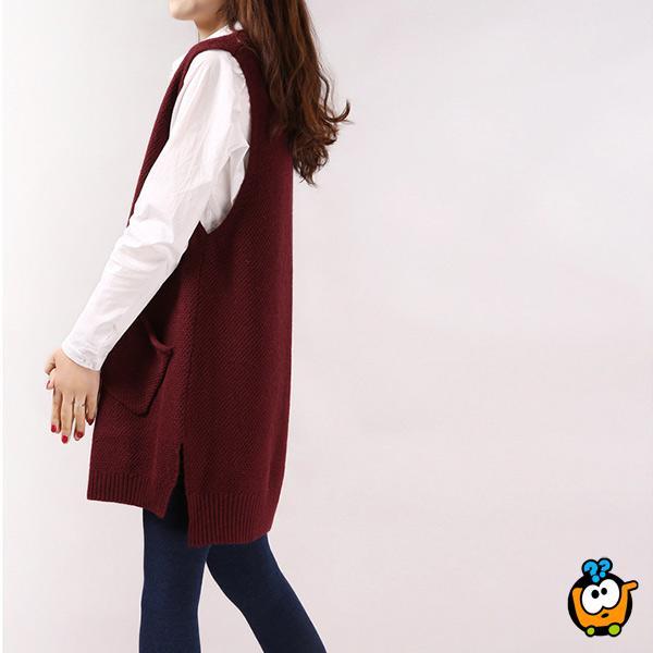 Tunika džemper za sve prilike u bordo boji