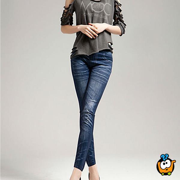 Teksas helanke - Jeans u plavoj boji sa elastinom