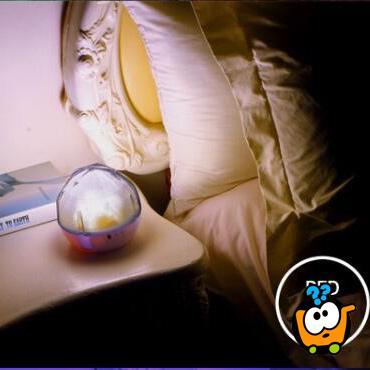 Magična noć - Lampa i projektor zvezdane svetlosti u sobi