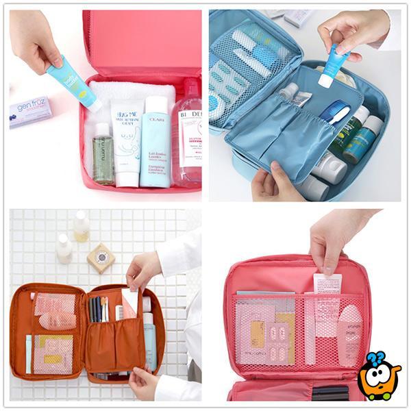 Vodootporna kozmetička torbica sa pregradama
