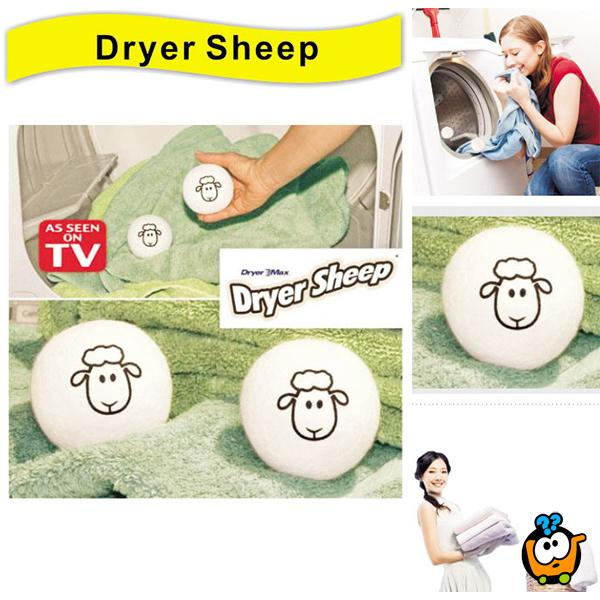 ECO-SMART DRYER SHEEP -  Vunene loptice za nežno sušenje veša
