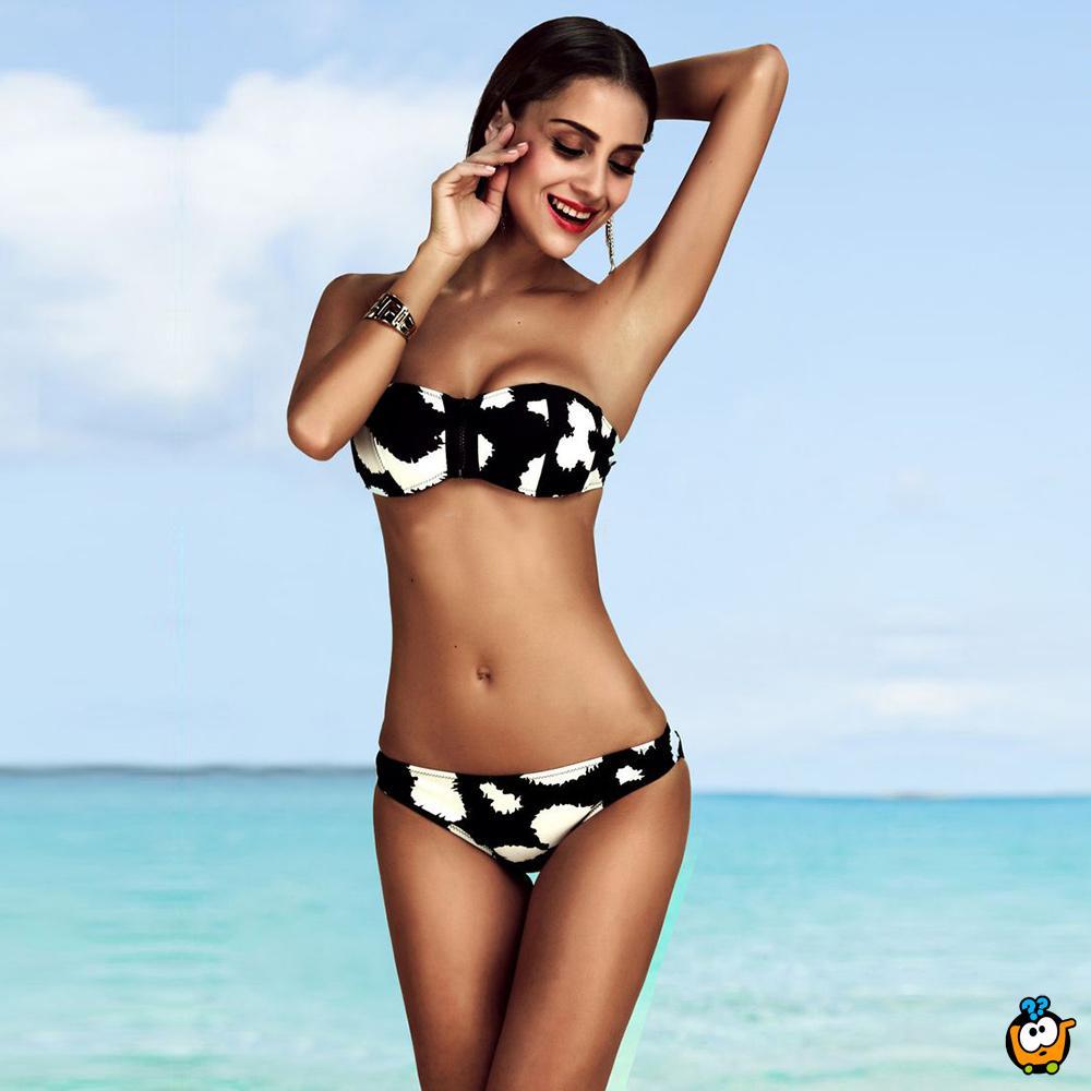 Dvodelni ženski kupaći kostim - TRIANGLE BLACK&WHITE