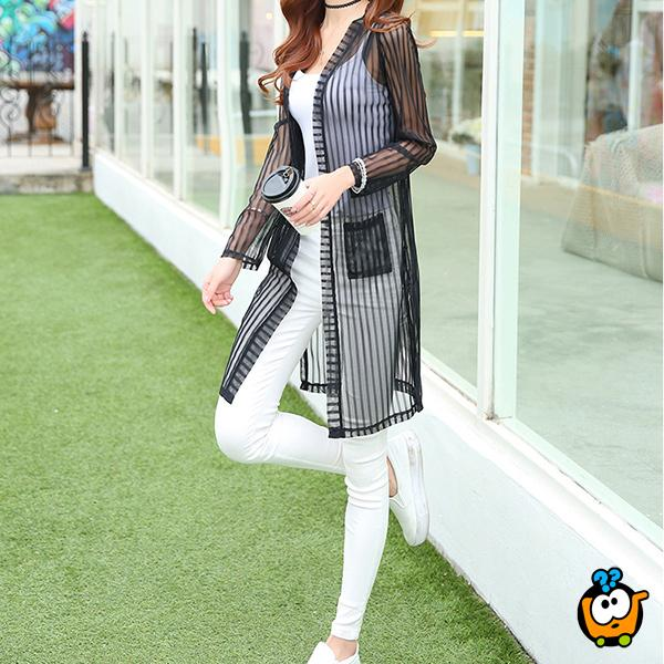 Moderan kardigan - Feminine Urban Style BLACK