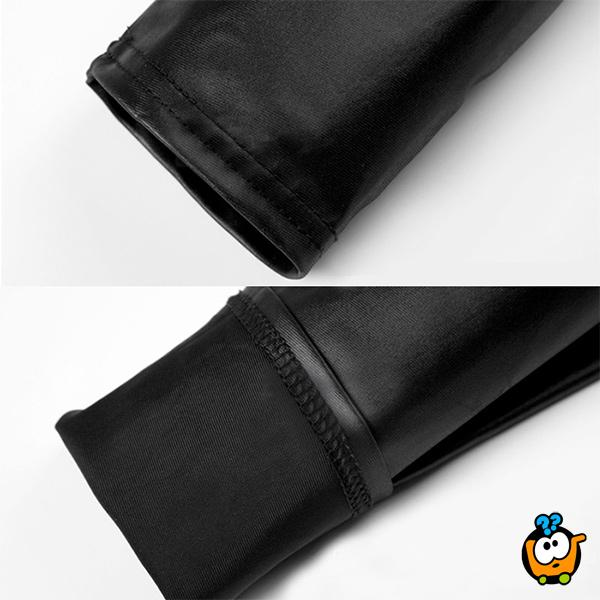 Trendy helanke u crnoj sjaj boji