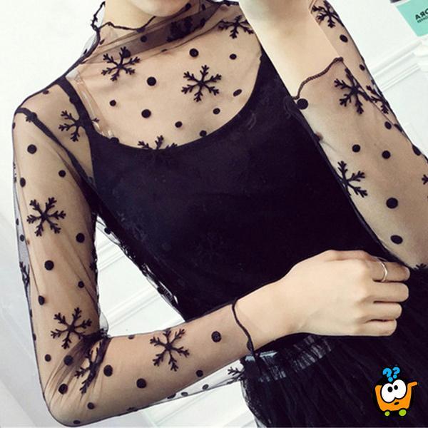 Lepršava transparentna majica - Sexy Snow