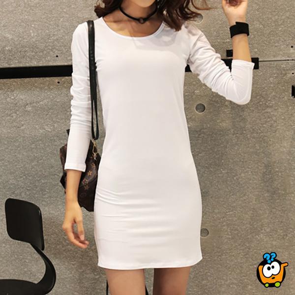 Letnja COLOR haljina za sve prilike - WHITE