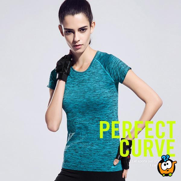 Udobna i praktična ženska majica - Casual-Sport BLUE