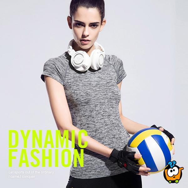 Udobna i praktična ženska majica - Casual-Sport GREY