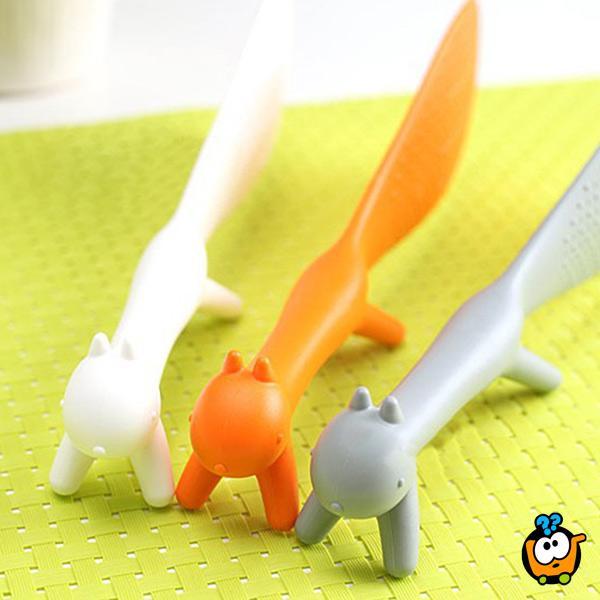 Plastična kašika u obliku veverice