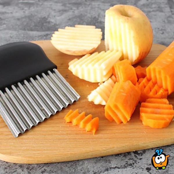 Ribbed Cutter - Savršeni CIK-CAK rezač krompira, sireva i drugog povrća