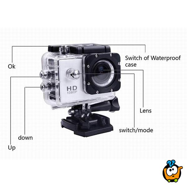 Action Camera Full HD vodootporna kamera - Fascinantni snimci u pokretu