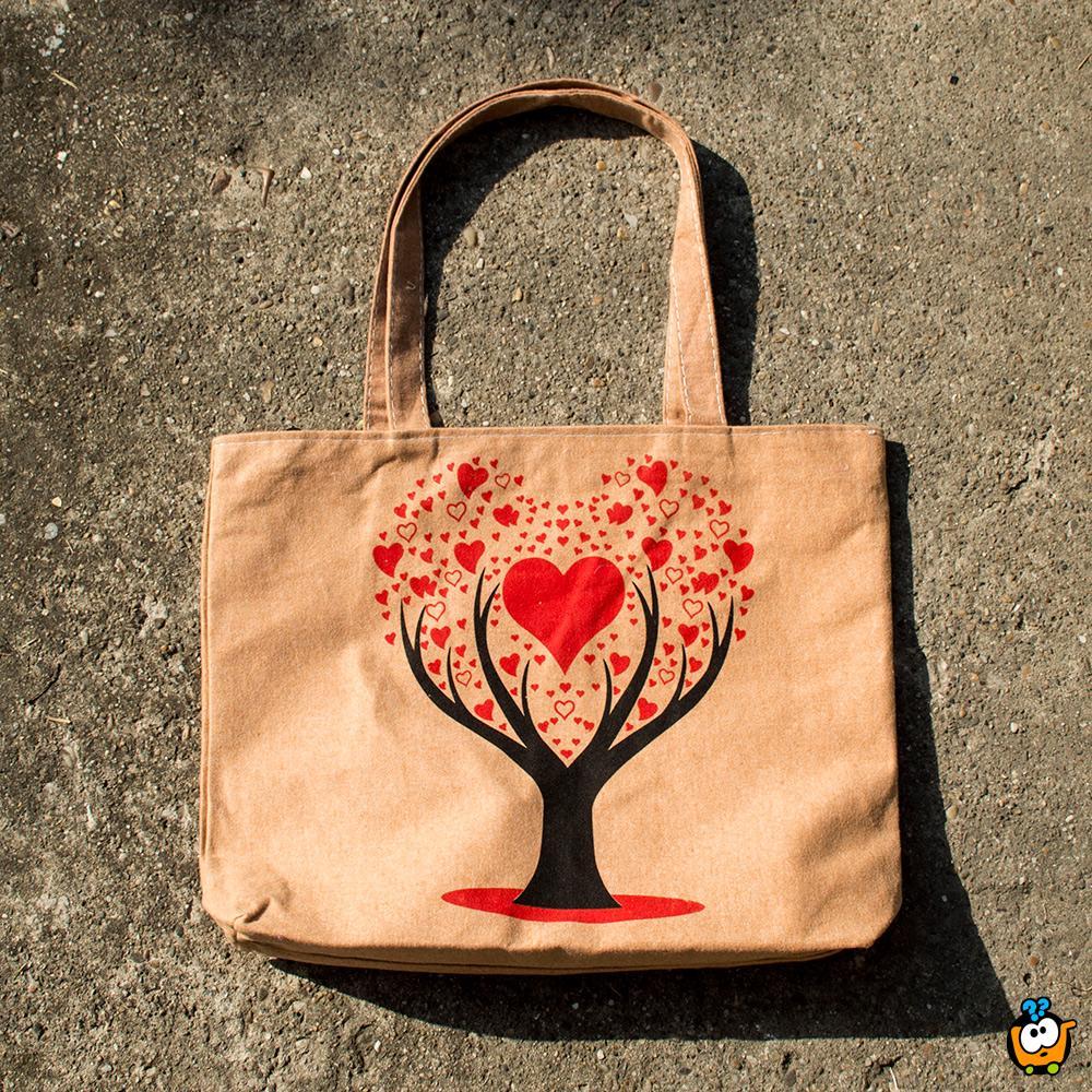 Ceger torba Retro - RED LOVE TREE