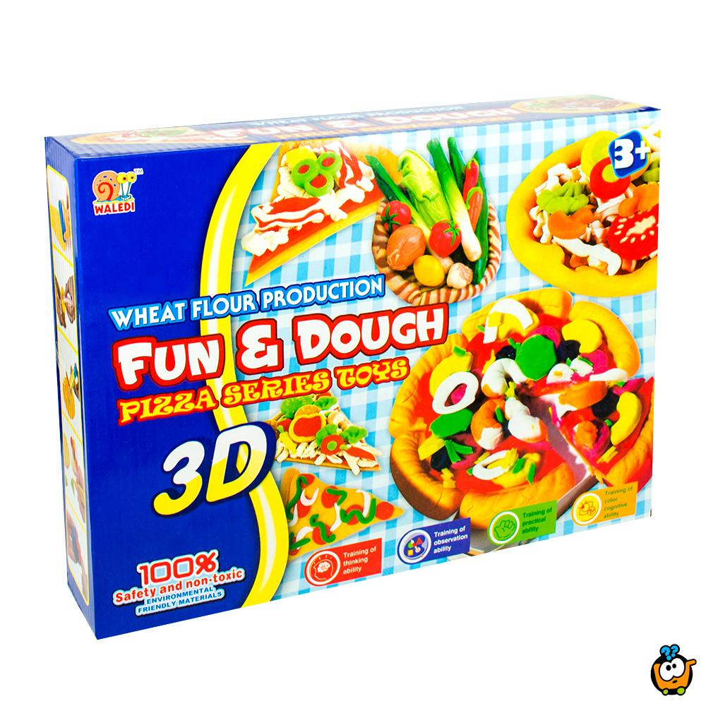 FUN & DOUGH čarobno testo - Plastelin za oblikovanje i igru - Set Mini pizza majstor
