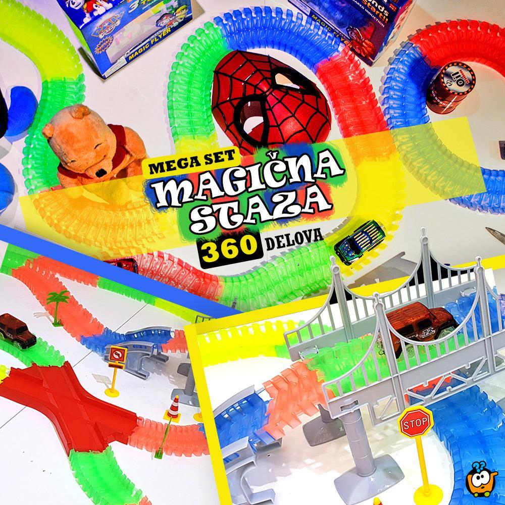 Trkački set MAGIČNA STAZA - MEGA SET 360 delova