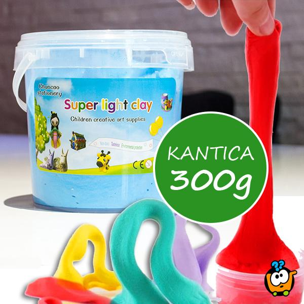 Kinetička glina - Super Light Clay kantica 300g
