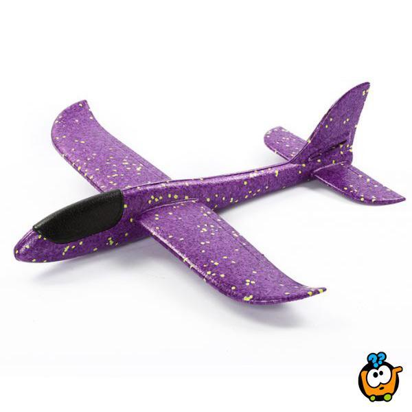 Magičan Avion BIG 48 cm - Izrađen od specijalne pene koji se ručno baca