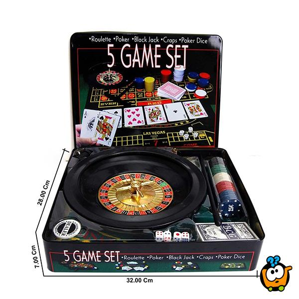 5 in 1 Game set - Kazino u Vašoj kući