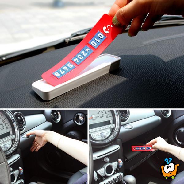 Kreativne kartice sa brojem telefona - za vozače automobila