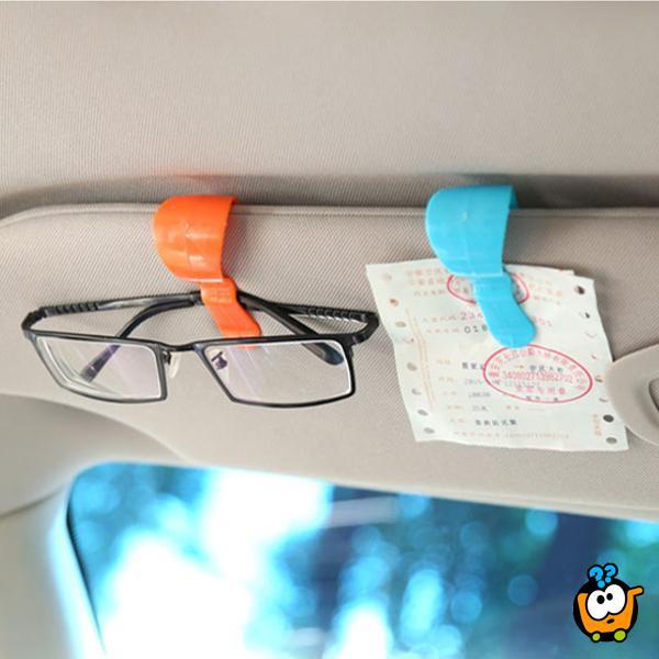 Plastična klipsa za držanje naočara u autu