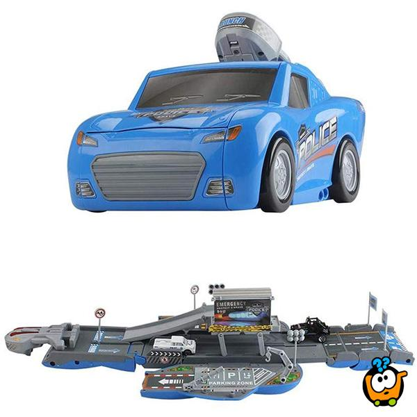 Race track Police Set - Rasklopivi autić garaža