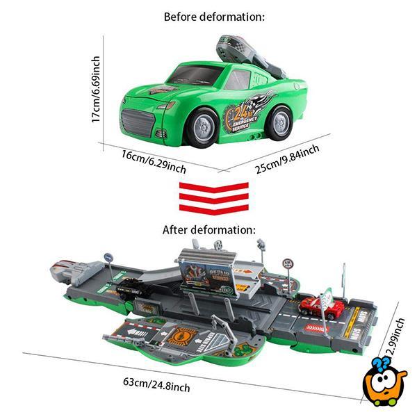 Race track Service Set - Rasklopivi autić garaža