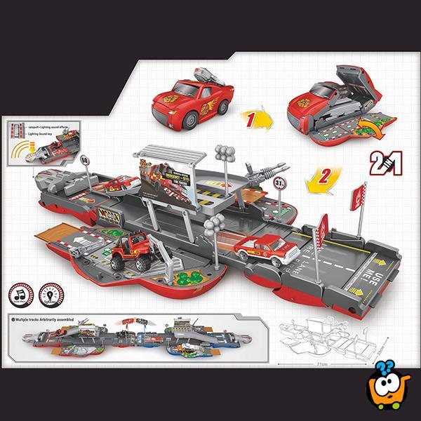Race track Race Set - Rasklopivi autić garaža