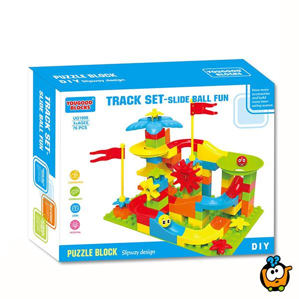 Konstruktivni set - kocke, tobogan, loptice