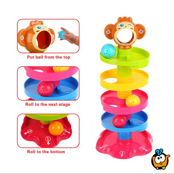 Roll ball - Veseli toranj sa lopticama