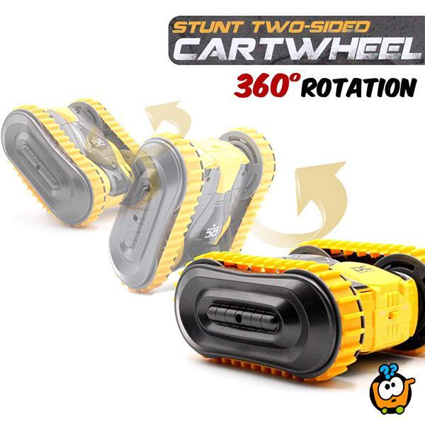 2 in 1 Stunt Cartwheel - Autić sa zamenjivim točkovima