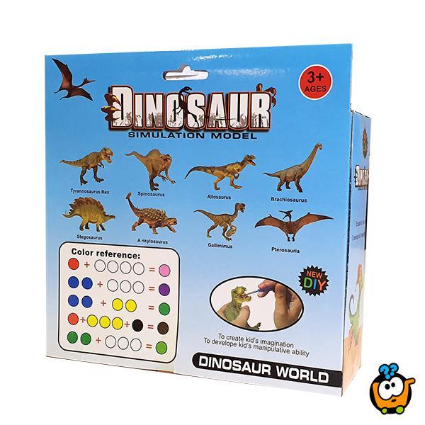 Oboj dinosaurusa - kreativna igračka za decu