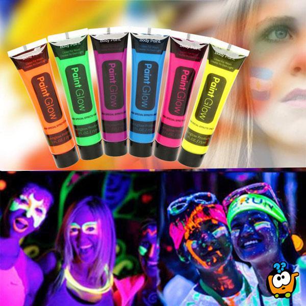 Neon Face Paint – Boje za oslikavanje kože koje svetle u mraku