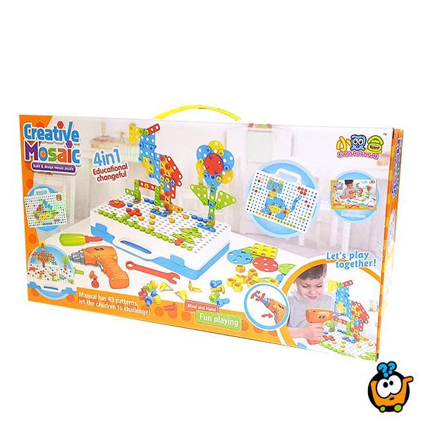 Kreativni Natura mozaik - Set alata za decu od 237 delova