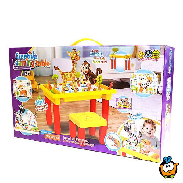Creative Learning desk - Edukativni set alata za decu  sa stočićem i stolicom