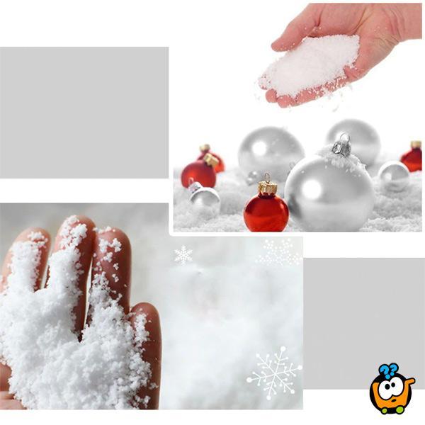 Kinetički SNEG - Instant veštački sneg u prahu - dodaj vodu i napravi pahulje