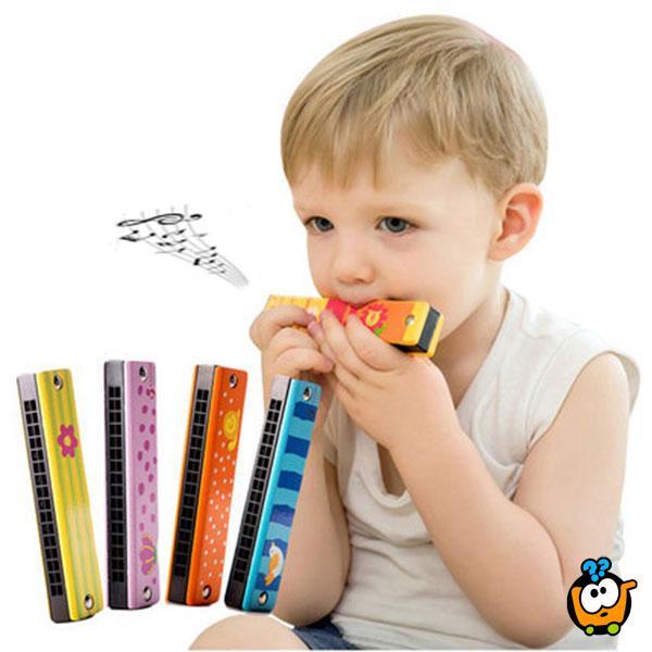 Cartoon Baby - Drvena usna harmonika za decu